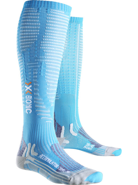 X-Bionic Effektor Competition Long Socks Women Turquoise/Pearl Grey